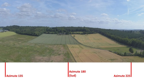 Photo panoramique par drone avec azimuth
